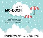 Happy Monsoon Season Backgroun...