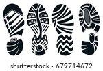 silhouette of sport running... | Shutterstock .eps vector #679714672