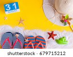 august 31st. image of august 31 ... | Shutterstock . vector #679715212