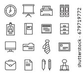 office tools icon in outline... | Shutterstock .eps vector #679719772