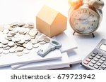mortgage  savings and finance...   Shutterstock . vector #679723942