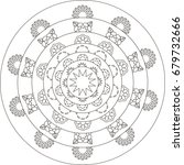 mandala. coloring book page. | Shutterstock .eps vector #679732666