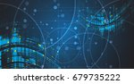 neural network concept.... | Shutterstock .eps vector #679735222