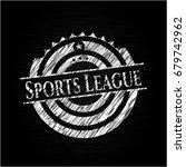 sports league on blackboard   Shutterstock .eps vector #679742962