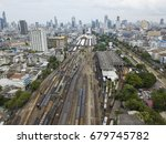 aerial view of bangkok railway... | Shutterstock . vector #679745782