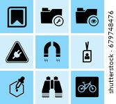 set of 9 web icons such as data ... | Shutterstock .eps vector #679748476