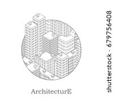 urban architecture isometric.... | Shutterstock .eps vector #679756408