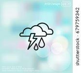 web icon. storm. cloud ...