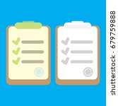 vector clipboard icon with... | Shutterstock .eps vector #679759888