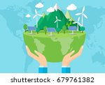 safe the planet concept  | Shutterstock .eps vector #679761382