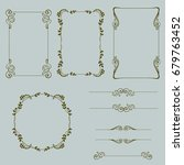 decorative vintage borders and... | Shutterstock .eps vector #679763452