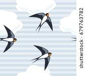 seamless blue background of... | Shutterstock .eps vector #679763782