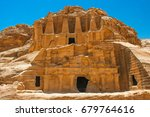 ancient architecture at petra ... | Shutterstock . vector #679764616