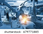 automobile manufacturing... | Shutterstock . vector #679771885