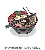 ramen noodles   Shutterstock .eps vector #679772032