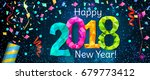 happy new year 2018 greeting... | Shutterstock .eps vector #679773412