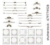 a set of design elements ... | Shutterstock .eps vector #679774528