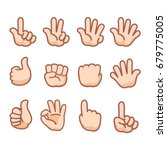 hand gestures and sign number... | Shutterstock .eps vector #679775005