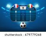 soccer football with scoreboard ... | Shutterstock .eps vector #679779268