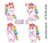 cute magic collection with... | Shutterstock .eps vector #679781446