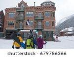 telluride  colorado usa  ... | Shutterstock . vector #679786366