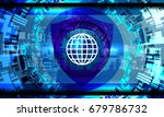 cyber security concept on... | Shutterstock .eps vector #679786732