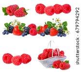 berries collection. raspberry ... | Shutterstock . vector #679794292