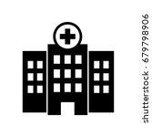 hospital icon. | Shutterstock .eps vector #679798906
