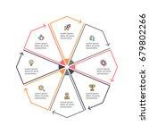 business infographics. outline... | Shutterstock .eps vector #679802266