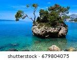 mediterranean beach. punta rata ...   Shutterstock . vector #679804075