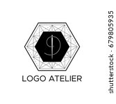 the logo atelier. vector... | Shutterstock .eps vector #679805935