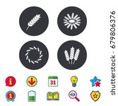 agricultural icons. gluten free ...