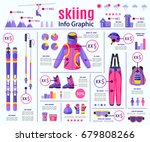 skiing  winter sport...   Shutterstock .eps vector #679808266