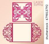 laser cut wedding invitation... | Shutterstock .eps vector #679813792
