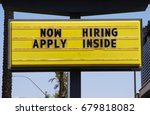 Small photo of Now hiring Apply Inside