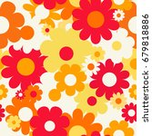 seamless pattern with flowers.... | Shutterstock .eps vector #679818886