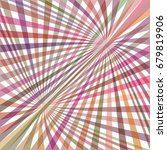 multicolored curved ray burst... | Shutterstock .eps vector #679819906