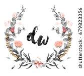 Watercolor Wedding Wreath...