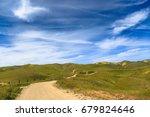 dirt road in rural california... | Shutterstock . vector #679824646