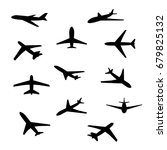 airplane icon set   Shutterstock .eps vector #679825132