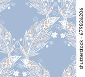 seamless pattern with gentle... | Shutterstock .eps vector #679826206
