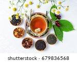 tea  cup of tea  various kinds... | Shutterstock . vector #679836568