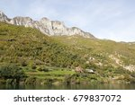 Small photo of Koman lake :Valley of Teth and the Albanian Alps