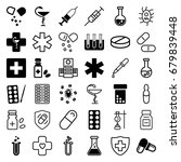pharmacy icons set. set of 36... | Shutterstock .eps vector #679839448