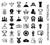 achievement icons set. set of... | Shutterstock .eps vector #679841296