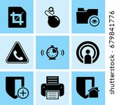 set of 9 web icons such as... | Shutterstock .eps vector #679841776