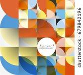 cut paper circles  mosaic mix... | Shutterstock . vector #679842196