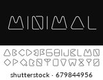 thin minimalistic font....   Shutterstock .eps vector #679844956