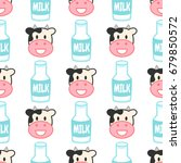 cute seamless pattern with... | Shutterstock .eps vector #679850572