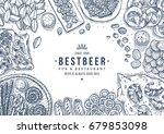 beer snacks collection. pub... | Shutterstock .eps vector #679853098